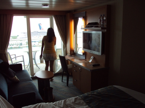 A sneak peak of our Oasis of The Seas balcony